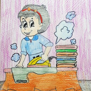 Нуртдинова Милена, 10 лет, мама-домохозяйка