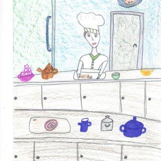 Кристина М. 12 лет. Папа суши-повар