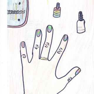 Кристина М. 12 лет. Мама мастер по маникюру