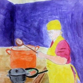 Гиберт Карина 13 лет, мама-повар