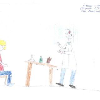 Никитченко Ева, 1 Д кл. СОШ №25. Врач-студент