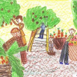 Маша А. 6 лет. Садовники