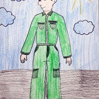 Нуртдинова Милена, 10 лет, папа-охранник